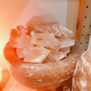 Himalayan Salt Lamp Bowl, Round