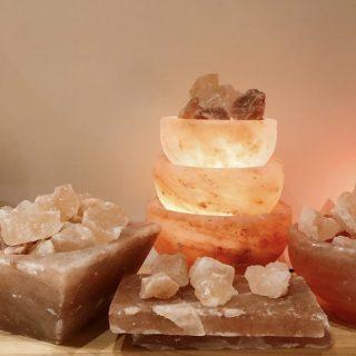 Himalayan Rock Salt Lamp, Square Bowl